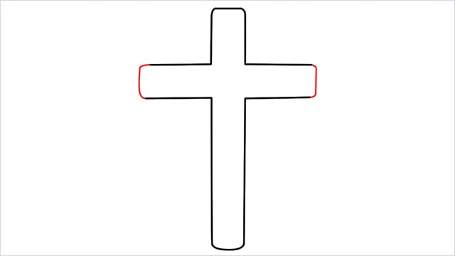 how to draw a cross step (5)