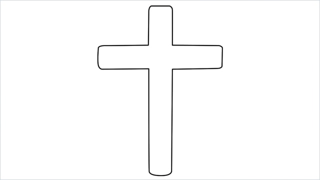 how to draw a cross