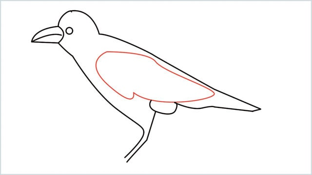 how to draw a crow step (9)