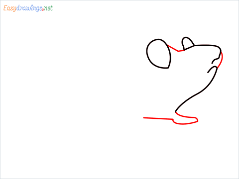 how to draw a cute mouse step (3)