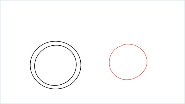 how to draw a cycle step (3)