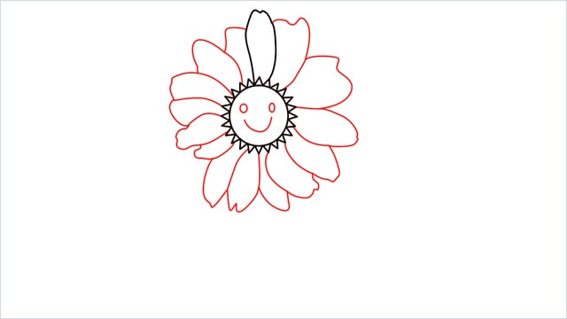 how to draw a daisy step (5)