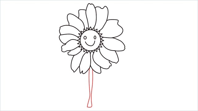 how to draw a daisy step (6)