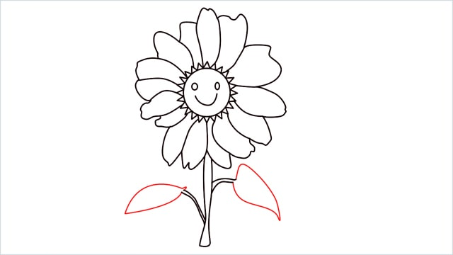 how to draw a daisy step (8)