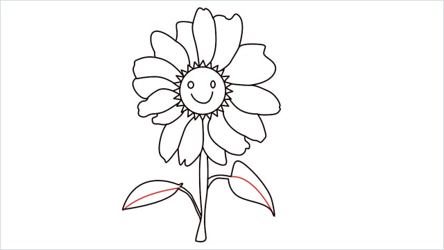 how to draw a daisy step (9)
