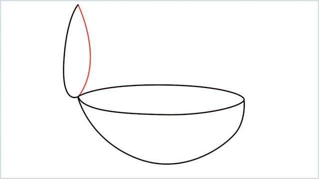 how to draw a diya step (5)
