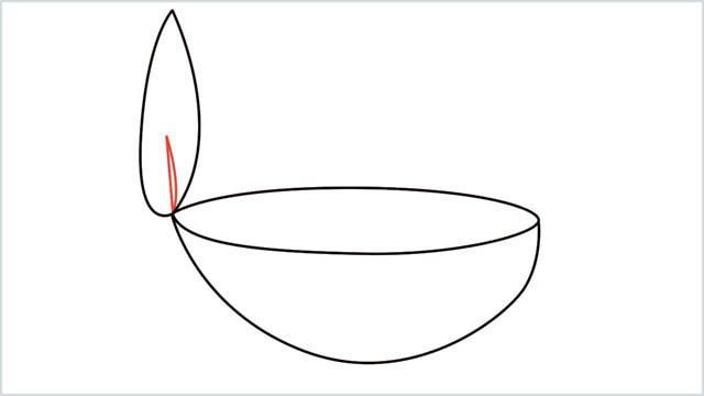how to draw a diya step (6)