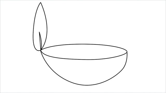 how to draw a diya