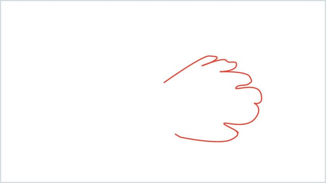 how to draw a dove step (1)