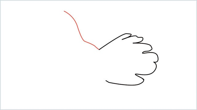 how to draw a dove step (2)