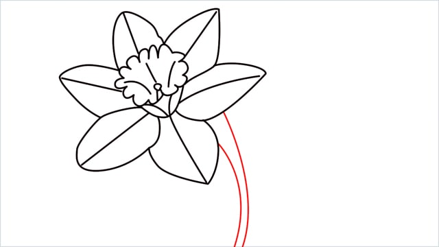 how to draw a easy daffodil step (11)