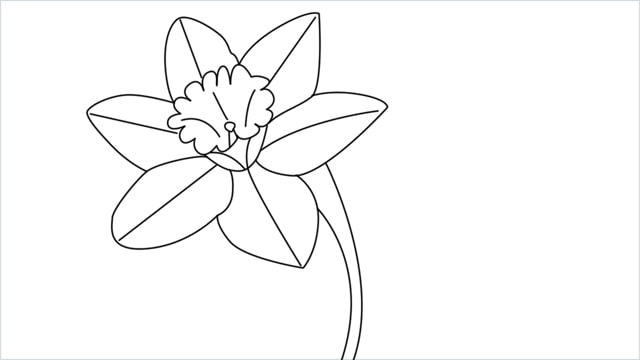 how to draw a easy daffodil