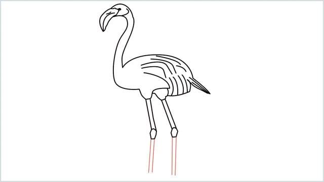 how to draw a flamingo step (11)