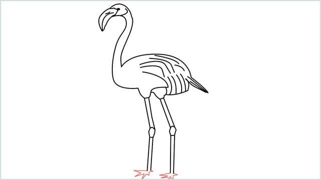 how to draw a flamingo step (12)
