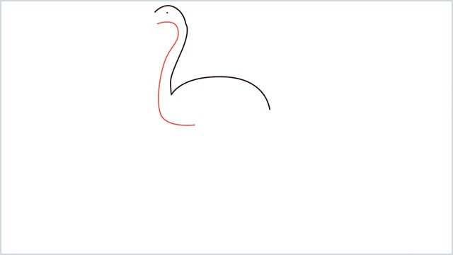 how to draw a flamingo step (2)