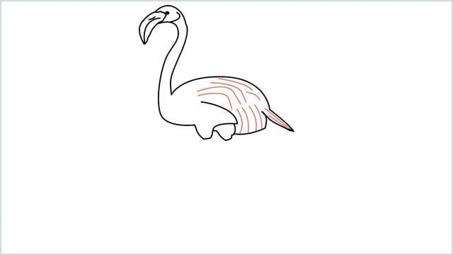 how to draw a flamingo step (8)