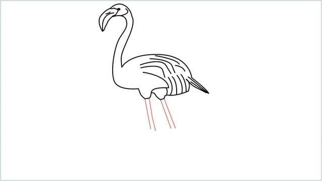 how to draw a flamingo step (9)