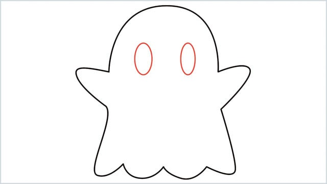 how to draw a ghost step (5)