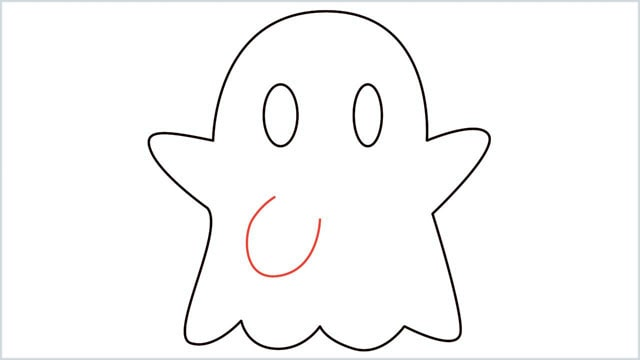 how to draw a ghost step (6)