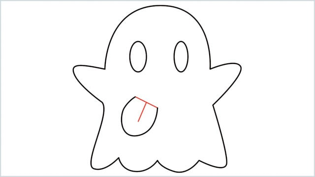 how to draw a ghost step (7)