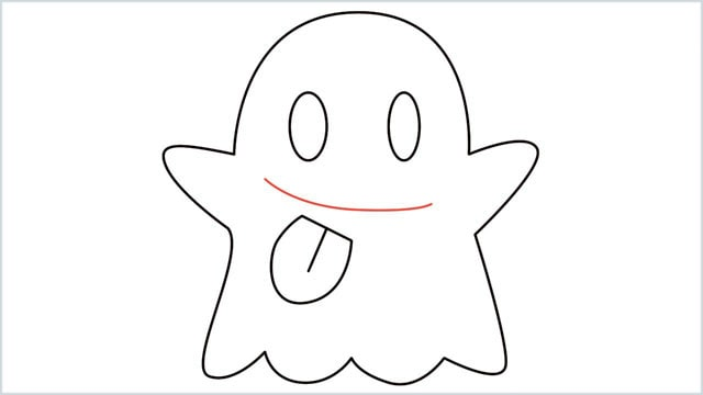 how to draw a ghost step (8)