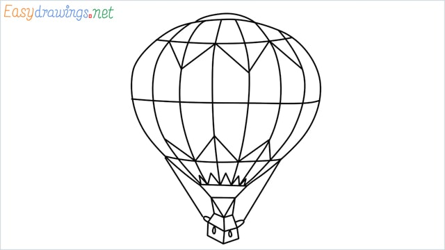 how to draw a hot air balloon easy step (10)