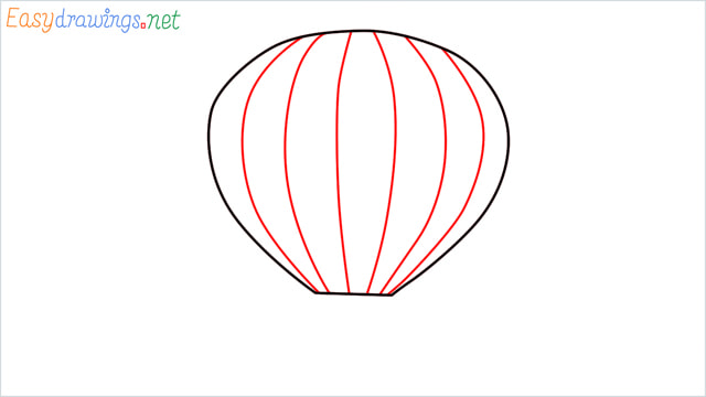 how to draw a hot air balloon easy step (3)