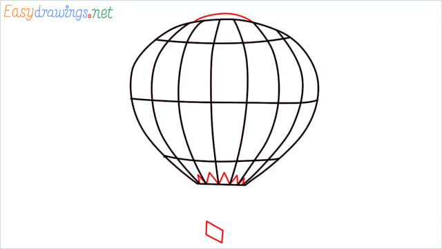 how to draw a hot air balloon easy step (5)