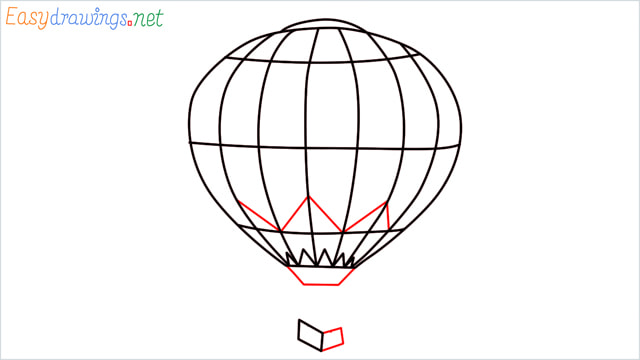 how to draw a hot air balloon easy step (6)