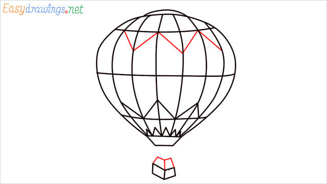 how to draw a hot air balloon easy step (7)