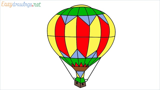 how to draw a hot air balloon easy step by step1