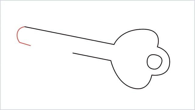 how to draw a key step (5)