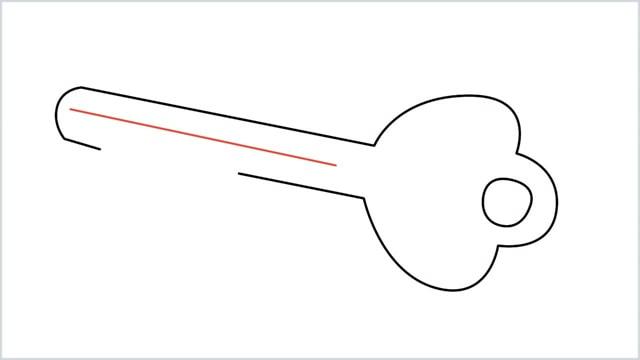how to draw a key step (6)