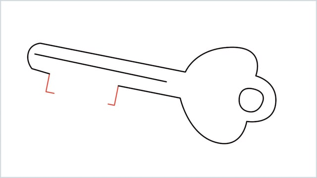 how to draw a key step (7)