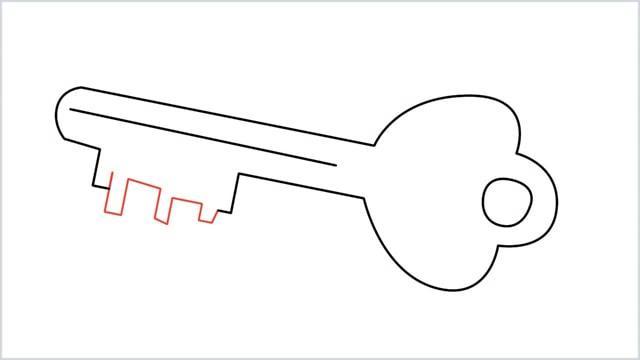how to draw a key step (8)