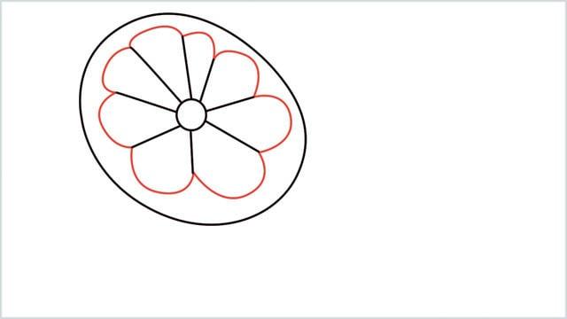 how to draw a lemon step (4)