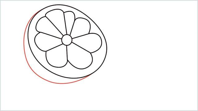 how to draw a lemon step (5)