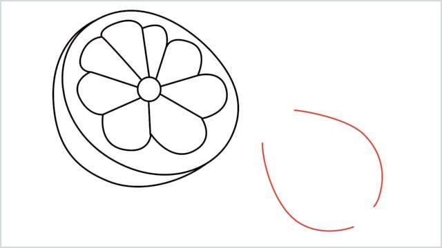how to draw a lemon step (6)