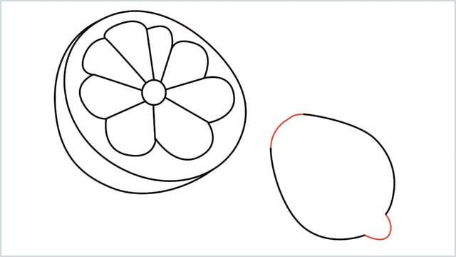 how to draw a lemon step (7)