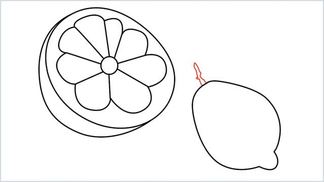 how to draw a lemon step (8)