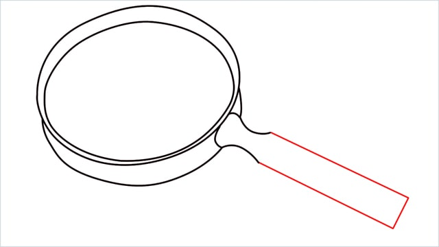 how to draw a magnifying glass step (6)