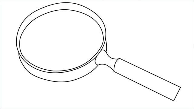how to draw a magnifying glass