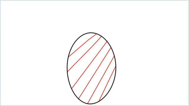 how to draw a pineapple step (2)