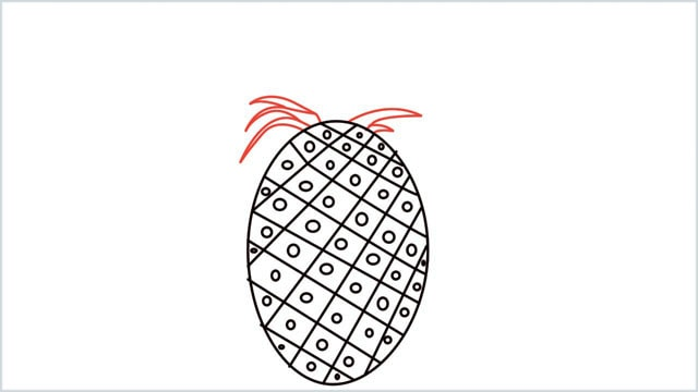 how to draw a pineapple step (5)