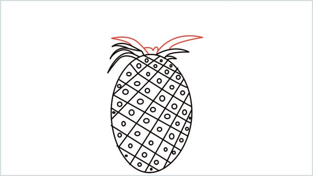 how to draw a pineapple step (6)