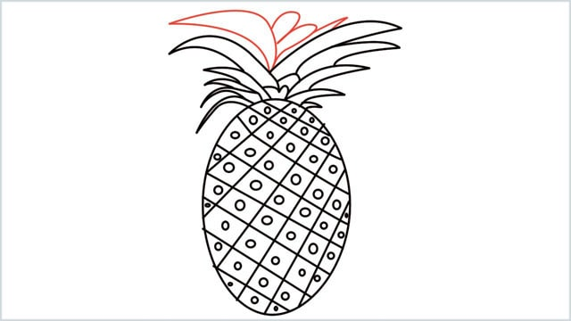 how to draw a pineapple step (8)