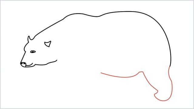 how to draw a polar bear step (6)