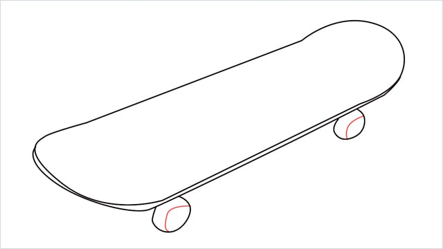 how to draw a skateboard step (5)
