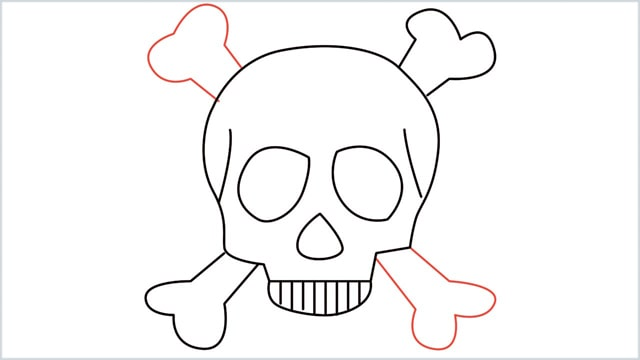 how to draw a skull step (10)
