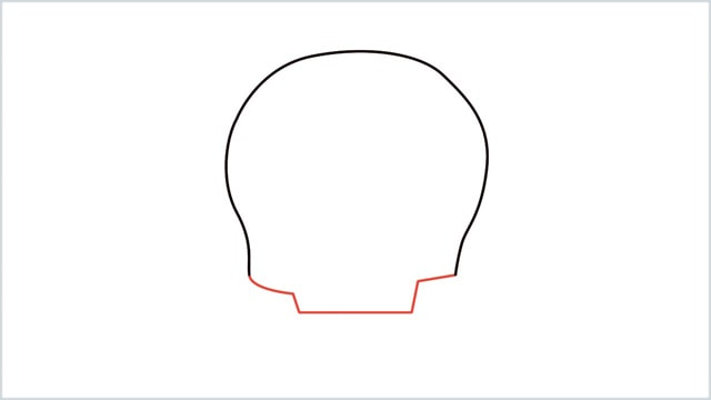 how to draw a skull step (2)